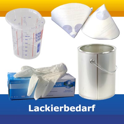 LACKIERBEDARF ( MISCHBECHER, FILTERSIEBE etc.)
