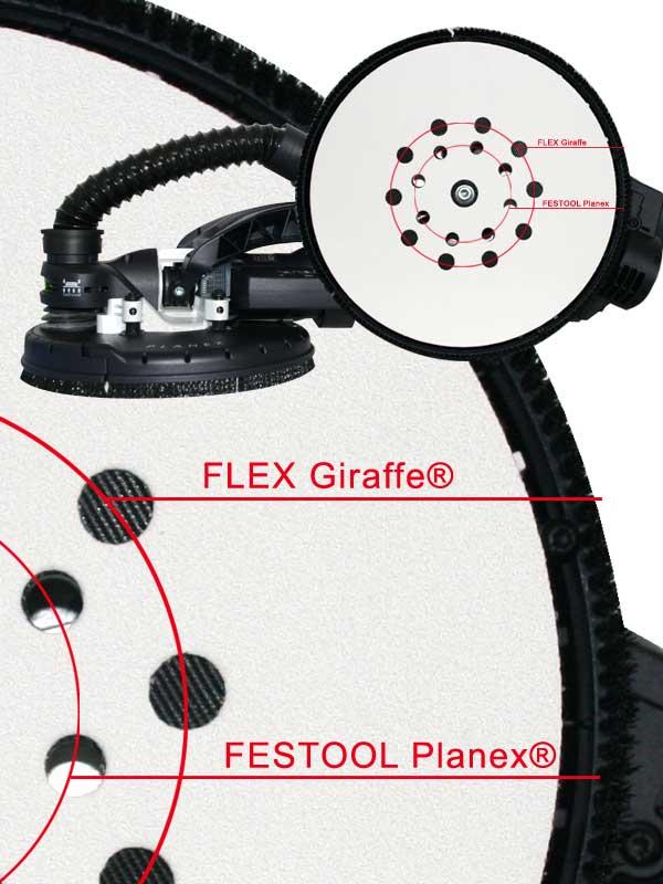 schleifscheiben 225 f r festool planex lhs flex giraffe schleifmittel indasa ebay. Black Bedroom Furniture Sets. Home Design Ideas