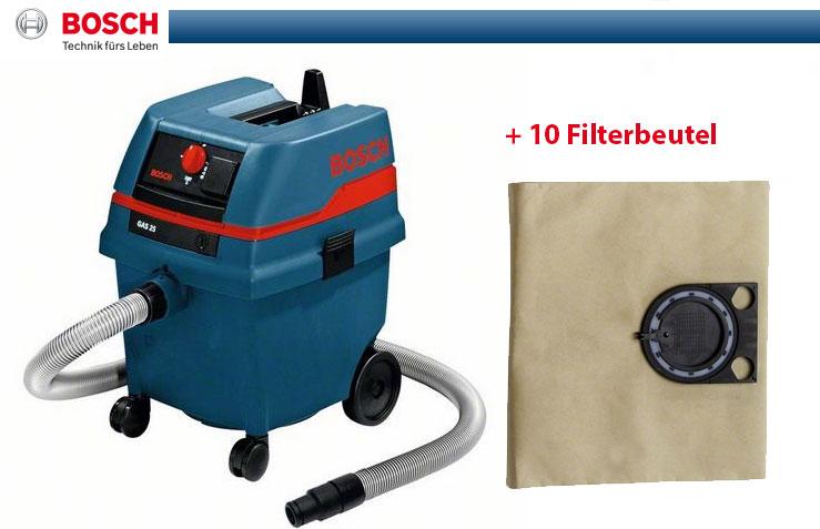 bosch allzwecksauger gas 25 10 filterbeutel industriesauger staubsauger ebay. Black Bedroom Furniture Sets. Home Design Ideas