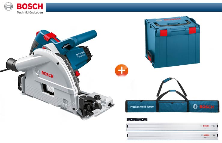 bosch immersion circular saw 55 gce incl l boxx 2 x fsn 1600 bag connector ebay. Black Bedroom Furniture Sets. Home Design Ideas