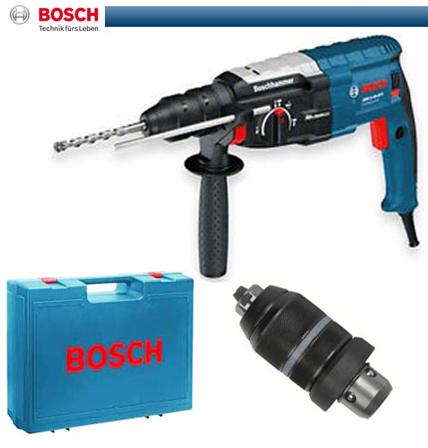bosch bohrhammer gbh 2 28 dfv mit schnellspannbohrfutter mit adapter 0611267200 ebay. Black Bedroom Furniture Sets. Home Design Ideas