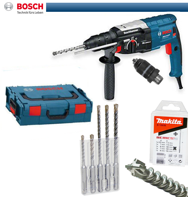 bosch gbh 2 28 dfv bohrhammer makita nemesis bohrerset l boxx 0611267201 l box ebay. Black Bedroom Furniture Sets. Home Design Ideas