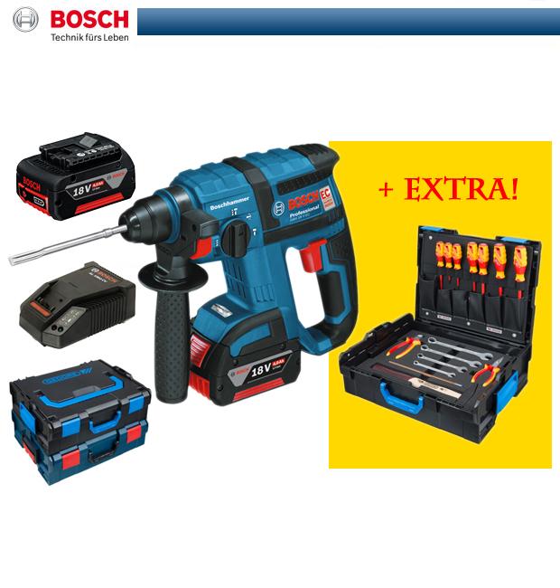 bosch akku bohrhammer gbh 18 v ec extra 16 tlg gedore l boxx 0615990gm9 ebay. Black Bedroom Furniture Sets. Home Design Ideas
