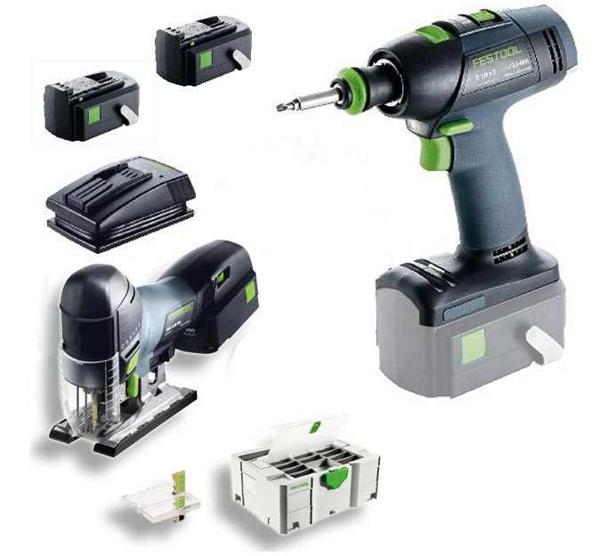 festool akkuschrauber stichs ge montageset 18v 5 2 ah im deckelfach systainer. Black Bedroom Furniture Sets. Home Design Ideas