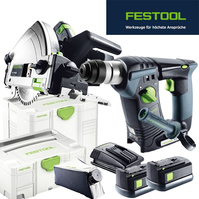 festool akku tauchs ge tsc 55 reb plus li bhc 18 li basic 561679 564507 neu ebay. Black Bedroom Furniture Sets. Home Design Ideas