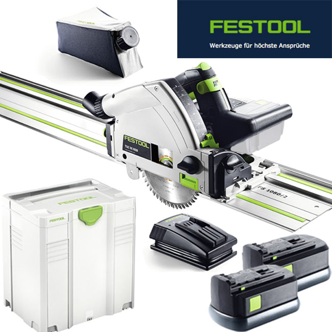 festool akku tauchs ge tsc 55 li 5 2 set plus fs 201400 2x. Black Bedroom Furniture Sets. Home Design Ideas