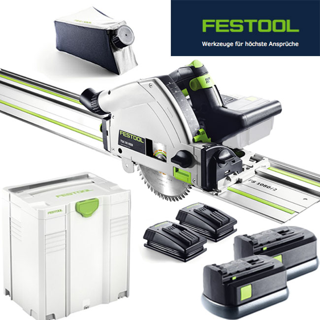festool 201402 akku tauchs ge tsc 55 reb set xl fs ebay. Black Bedroom Furniture Sets. Home Design Ideas