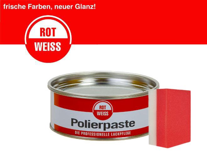 rotweiss polierpaste politur kfz profi 1100 rot weiss lackreiniger schwamm ebay. Black Bedroom Furniture Sets. Home Design Ideas