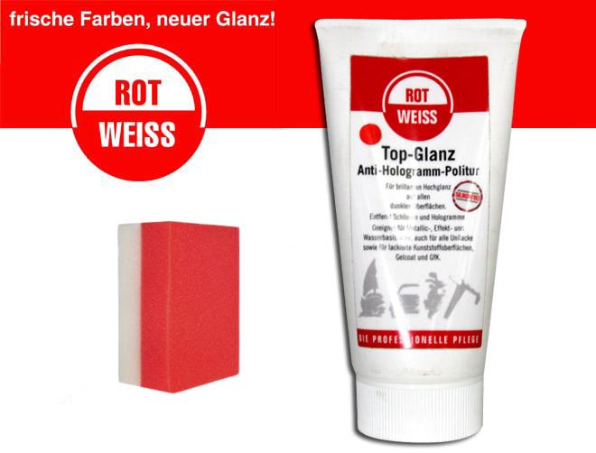 rotweiss top glanz anti hologramm politur 150ml profi. Black Bedroom Furniture Sets. Home Design Ideas
